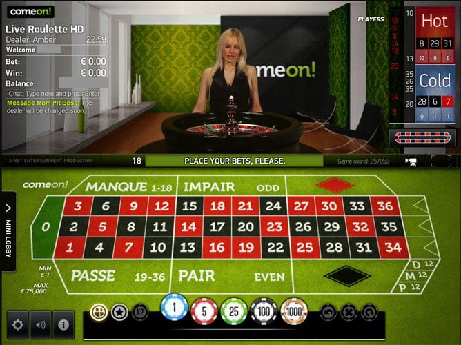 Comeon live casino Norge