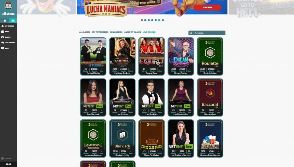 Cashmio Live Casino