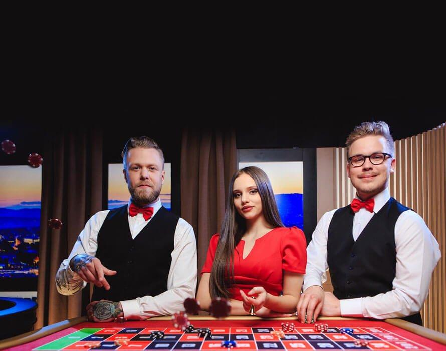 Ruby Fortune live casino dealer